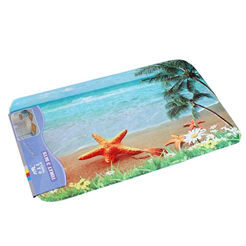 Dearhouse-Home-Decor-Non-slip-Seashells-Starfish-Beach-Welcome-Door-Mat-Rug-157inch-By-236inch-0