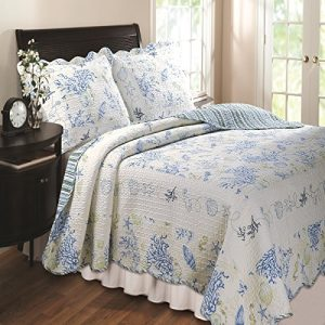 Greenland-Home-Coral-Quilt-Sham-Set-Blue-Twin-FullQueen-Or-King-0-300x300 36 Favorite Starfish Comforter & Quilt Sets