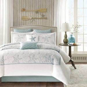 Harbor-House-4-Piece-Maya-Bay-Comforter-Set-King-White-0-300x300 Best Starfish Bedding and Quilt Sets