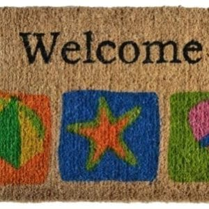 Imports Dcor Decorated Coir Doormat Welcome Beach 18  ...