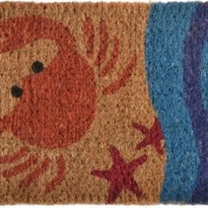 Imports-Decor-Printed-Coir-Doormat-Crab-18-Inch-by-30-Inch-0