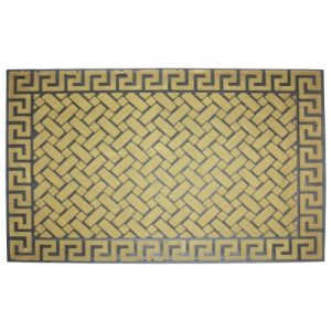 J-M-Home-Fashions-Greek-Key-Beige-Crumb-Rubber-Solid-Flocked-Doormat-24-Inch-by-36-Inch-0