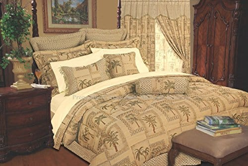Kinglinen-9-Piece-Tapestry-Palm-Bedding-Comforter-Set-0 Hawaii Themed Bedding Sets
