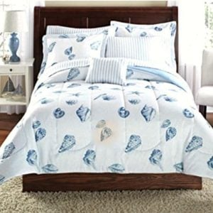 Seashells-Beach-Themed-Nautical-Twin-Comforter-Set-6-Piece-Bed-In-A-Bag-0