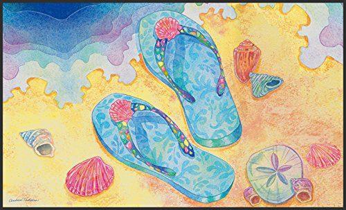 Blue Flip Flops Doormat