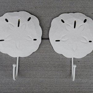 2-Sand-Dollar-Wall-Hooks-Tropical-Sand-Finish-Beach-Dcor-By-Tumbler-Home-0