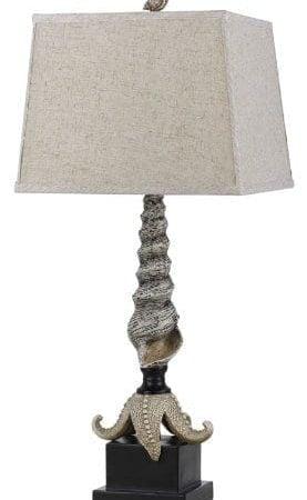 Cal-Lighting-Carapace-Starfish-Table-Lamp-3075-0-277x450 100+ Coastal Themed Lamps