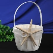 CheckMineOut-Cream-Starfish-Seashell-Satin-Ring-Pillow-and-Flower-Girls-Basket-Set-Beach-Wedding-Decoration-0-0