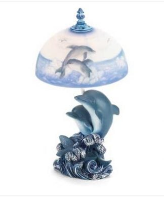 Dancing-Dolphins-Dolphin-Table-Lamp-Frosted-Glass-Shade-0-324x389 Coastal Themed Lamps