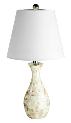 Elegant-Designs-LT1002-SHL-Malibu-Seashell-Tiled-Mosaic-Look-Curved-Table-Lamp-with-Chrome-Accents-0