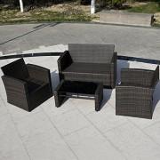 Giantex-4-PCS-Cushioned-Wicker-Patio-Sofa-Furniture-Set-Garden-Lawn-Seat-Gradient-Brown-0-1