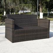 Giantex-4-PCS-Cushioned-Wicker-Patio-Sofa-Furniture-Set-Garden-Lawn-Seat-Gradient-Brown-0-3