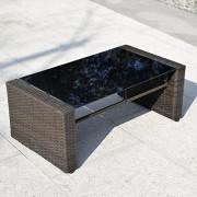 Giantex-4-PCS-Cushioned-Wicker-Patio-Sofa-Furniture-Set-Garden-Lawn-Seat-Gradient-Brown-0-4