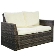 Goplus-4pc-Rattan-Sofa-Furniture-Set-Patio-Lawn-Cushioned-Seat-Gradient-Brown-Wicker-0-0