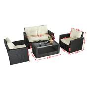 Goplus-4pc-Rattan-Sofa-Furniture-Set-Patio-Lawn-Cushioned-Seat-Gradient-Brown-Wicker-0-5