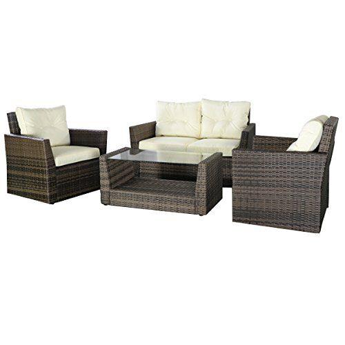 Goplus-4pc-Rattan-Sofa-Furniture-Set-Patio-Lawn-Cushioned-Seat-Gradient-Brown-Wicker-0
