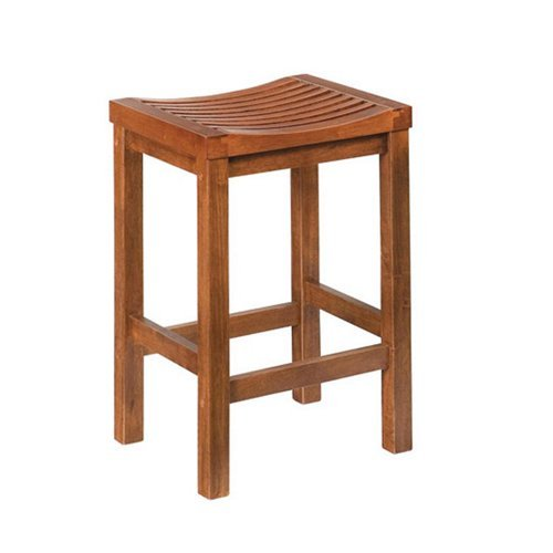 Home Styles Parker 24 In Backless Wood Counter Stool