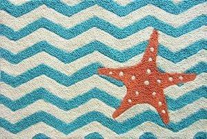 Jellybean-Chevron-Starfish-Accent-Area-Rug-0