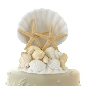Lillian-Rose-CT440-Coastal-Seashell-Cake-Top-5-Inch-0-300x300 Nautical and Beach Wedding Cake Toppers