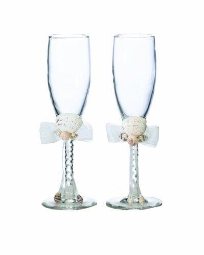 Lillian-Rose-Seaside-Seashell-Toasting-Glasses-8-Inch-Ivory-0