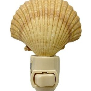 Natural-Seashell-Night-Light-Nautical-Beach-Decor-0