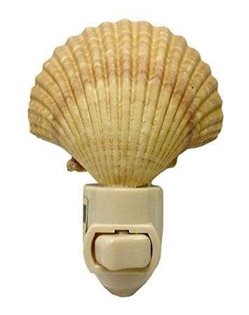 Natural-Seashell-Night-Light-Nautical-Beach-Decor-0-355x450 Coastal Themed Lamps