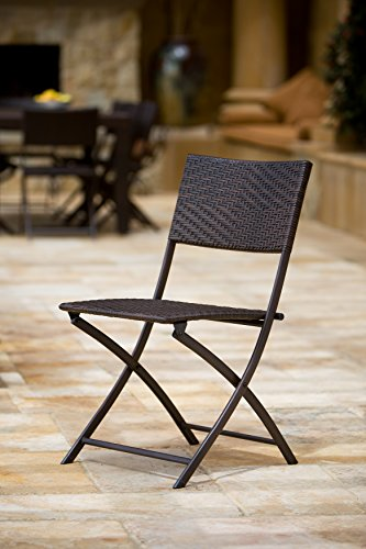 Rst brands 3pc bistro patio folding furniture for Rate furniture brands