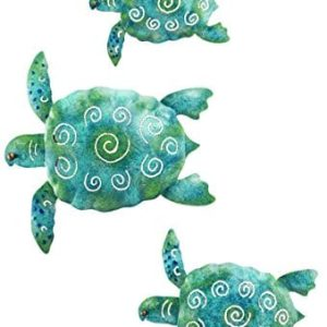 SEA-Turtle-Beach-Ocean-Summer-Metal-Wall-ART-3-piece-0
