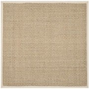 Safavieh-Natural-Fiber-Collection-NF114J-Handmade-Natural-and-Ivory-Seagrass-Square-Area-Rug-8-feet-by-8-feet-Square-8-x-8-Square-0