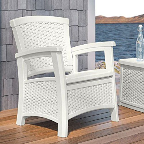 Suncast Elements Coffee Table With Storage Java: Suncast Elements Club Chair With Storage