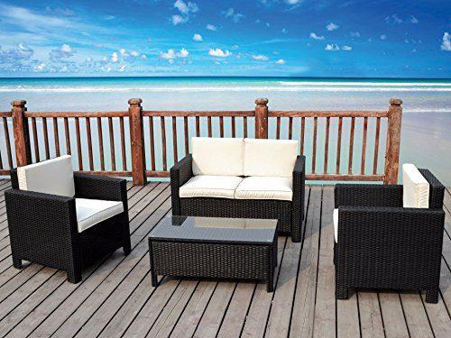 The Miami Beach Collection 4 Pc Rattan Wicker Sofa