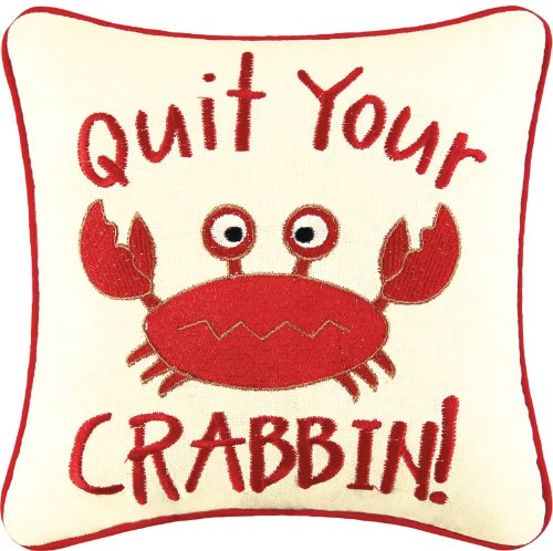 10-Embroidery-LINEN-Pillow-CRABBIN-0 16 Fun Crab Beach Accents For Your House