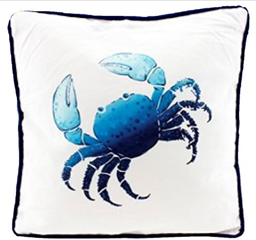 Blue-Crab-Beach-Pillow-with-White-Solid-Back-0 16 Fun Crab Beach Accents For Your House