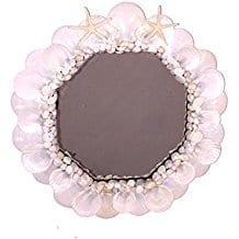 Cape-Cod-Seashell-Decorative-Octagon-Wall-Mirror Best Coastal and Beach Themed Mirrors