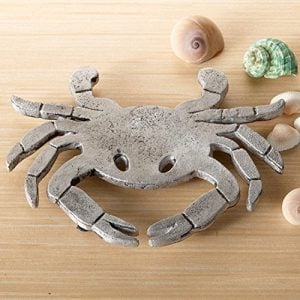 Crab-Trivet-Coastal-Beach-Kitchen-Hot-Pad-Textured-Aluminum-8-0
