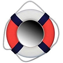 Hampton-Nautical-Decorative-Patriotic-Lifering-Mirror Best Coastal and Beach Themed Mirrors