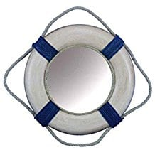Hampton-Nautical-Vintage-Rope-Bands-Decorative-Life-Ring-Mirror Best Coastal and Beach Themed Mirrors