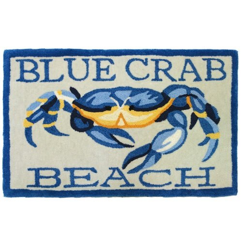 Homefires-Accents-Blue-Crab-Beach-Indoor-Rug-22-Inch-by-34-Inch-0 16 Fun Crab Beach Accents For Your House