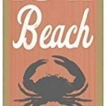 7 Life-is-a-beach-Watch-out-for-crabs-crab-image-beach-primitive-wood-plaques-signs-measure-5-x-15-size-0