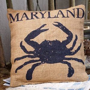 Maryland-Blue-Crab-Burlap-Accent-Pillow-8-in-x-8-in-0-300x300 16 Fun Crab Beach Accents For Your House