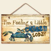 8 New-Funny-Feeling-Crabby-Sign-Wall-Plaque-Nautical-Decor-Coastal-Picture-Crab-0