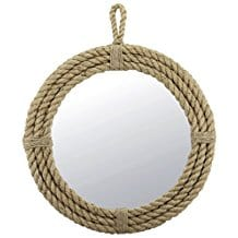 Stonebriar-Small-Round-Wrapped-Rope-Mirror Best Coastal and Beach Themed Mirrors