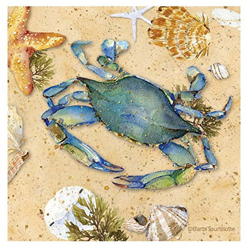 Thirstystone-Occasions-Coaster-Blue-Crab-II-Multicolor-0 16 Fun Crab Beach Accents For Your House