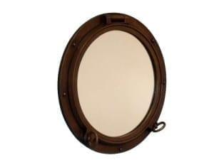 bronze porthole nautical mirror 16