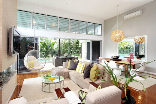 contemporary-living-room-beach-furniture Beach Home Furniture Design Themes and Color Ideas