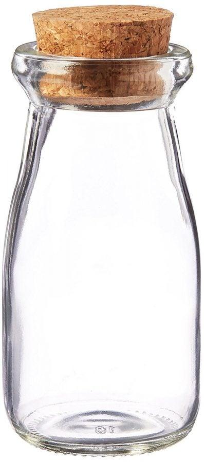 kate-aspen-vintage-milk-favor-jar-set Best Small Glass Bottles With Cork Toppers