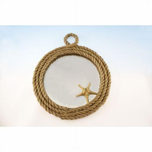 Rope Lined Starfish Mirror