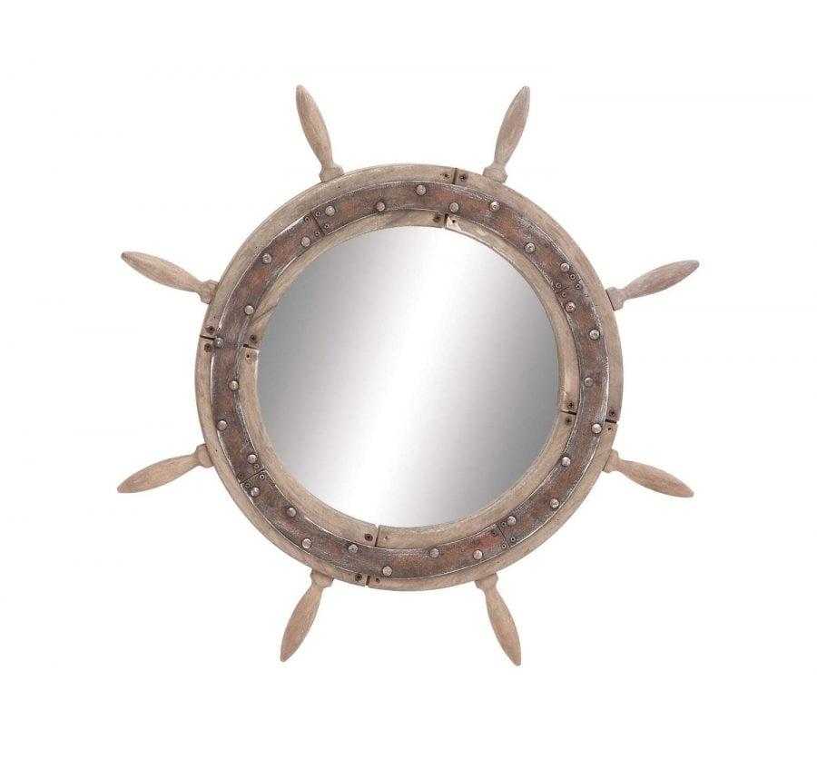 Ship Wheel Nautical Mirror
