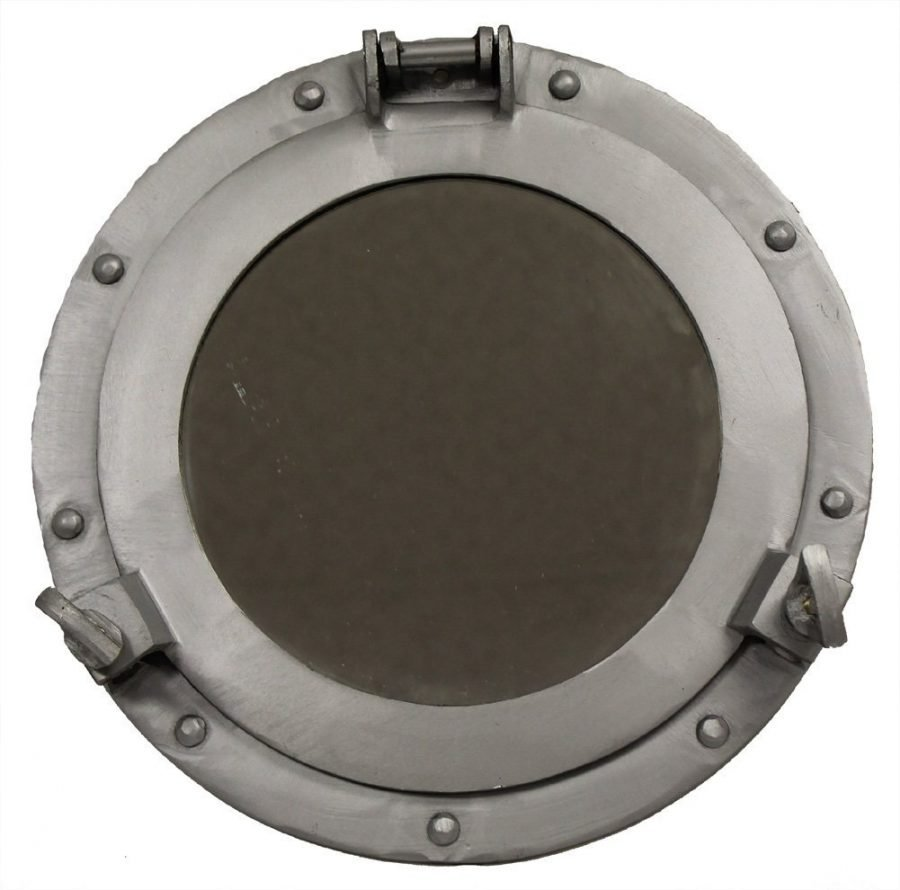 Dark Grey Aluminum Porthole Mirror
