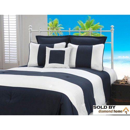 nautical stripe beach bed in a bag 6